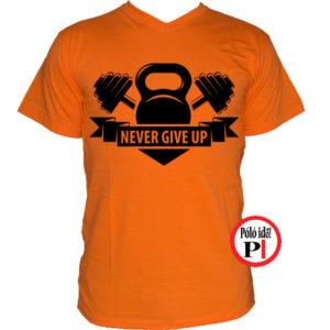 edző póló kettlebell narancs