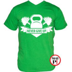 edző póló kettlebell zöld
