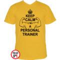 edző póló personal training citrom