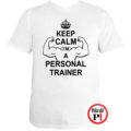 edző póló personal training fehér