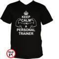 edző póló personal training fekete
