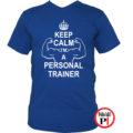 edző póló personal training kék