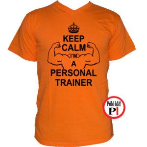 edző póló personal training narancs