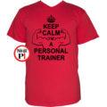 edző póló personal training piros
