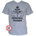 edző póló personal training szürke