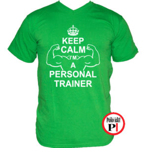 edző póló personal training zöld