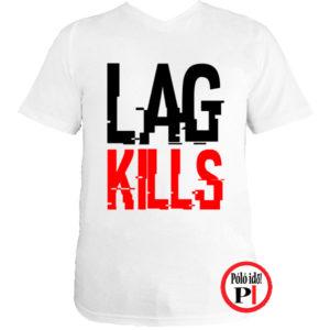 gamer póló lag kills fehér