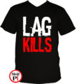 gamer póló lag kills fekete
