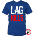 gamer póló lag kills kék