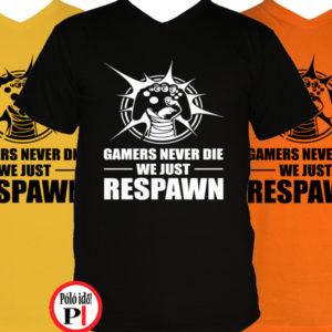 gamer pólók never die