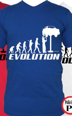 autószerelő póló evolúció