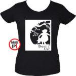 bff póló cuki 1 fekete