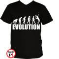 teniszpóló evolúció férfi fekete