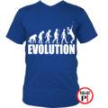 teniszpóló evolúció férfi kék