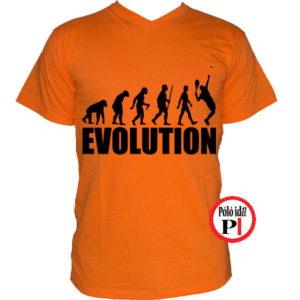 teniszpóló evolúció férfi narancs