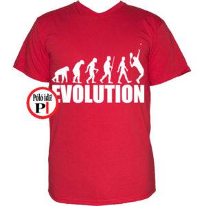 teniszpóló evolúció férfi piros