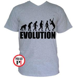 teniszpóló evolúció férfi szürke