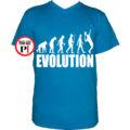 teniszpóló evolúció férfi v kék