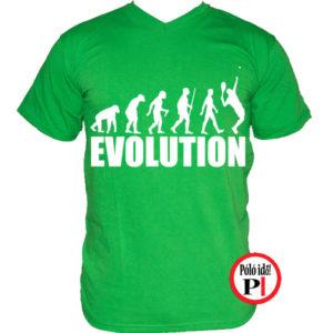 teniszpóló evolúció férfi zöld