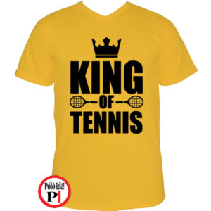 teniszpóló king citrom