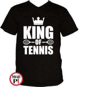 teniszpóló king fekete