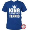 teniszpóló king kék