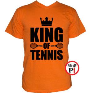 teniszpóló king narancs