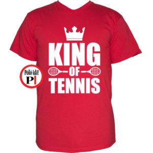 teniszpóló king piros