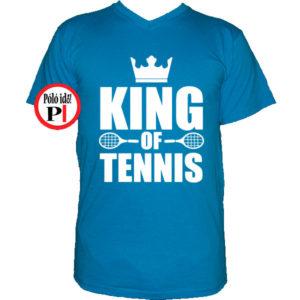 teniszpóló king v kék