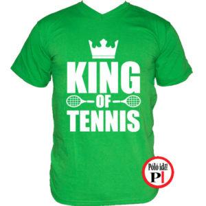 teniszpóló king zöld