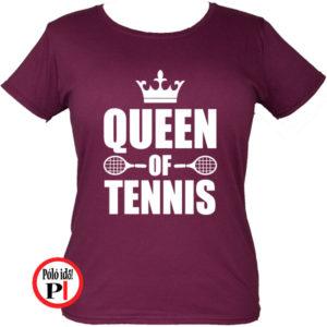 teniszpóló queen burgundi