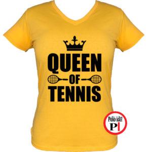 teniszpóló queen citrom