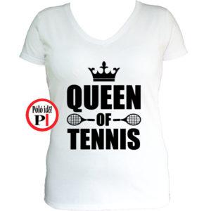 teniszpóló queen fehér