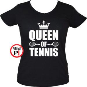 teniszpóló queen fekete