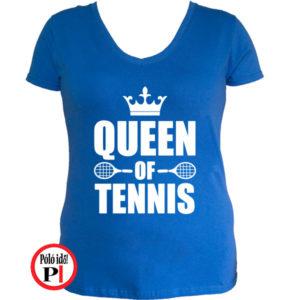 teniszpóló queen kék