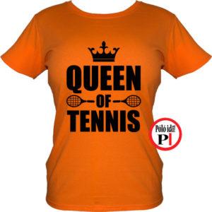 teniszpóló queen narancs