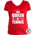teniszpóló queen piros