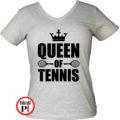 teniszpóló queen szürke