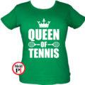 teniszpóló queen zöld