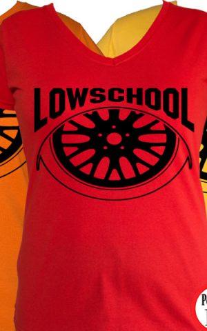 autós női póló lowschool