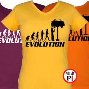 Evolúció autószerelő női póló