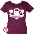 edző póló kettlebell női burgundi