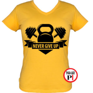 edző póló kettlebell női citrom