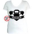 edző póló kettlebell női fehér
