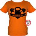 edző póló kettlebell női narancs