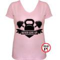 edző póló kettlebell női pink