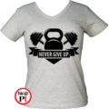 edző póló kettlebell női szürke