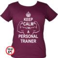 edző női póló personal training burgundi