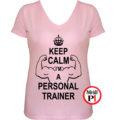 edző női póló personal training pink