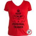 edző női póló personal training piros